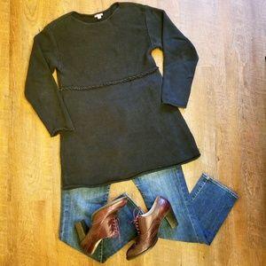 J. Jill Tunic Sweater, Black, Size Medium, VGUC